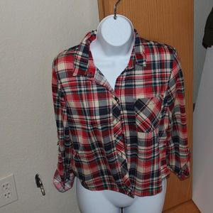MULTI COLOR PLAID FLANNEL FOR FALL